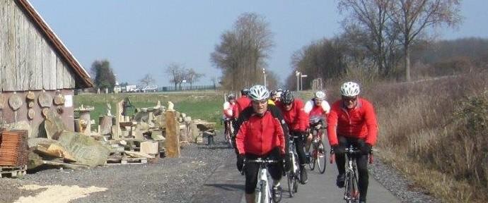 """Streckenabfahrt vom """"Rentnertreff"""" der Radsportfreunde"""