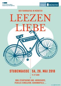 Plakat zum Fahrradtag LEEZENLIEBE in Münster
